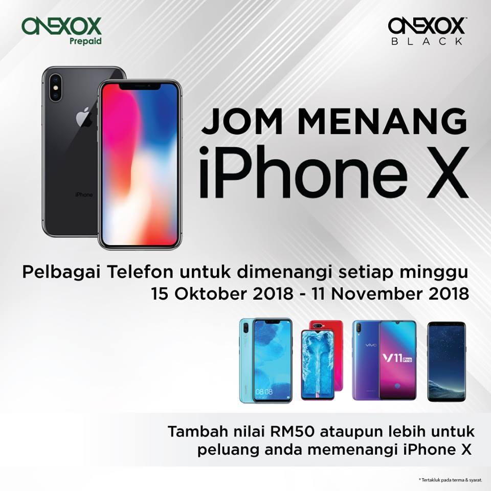 Cabutan Bertuah kepada Pengguna ONEXOX, Hanya Topup RM50 dan Menang!