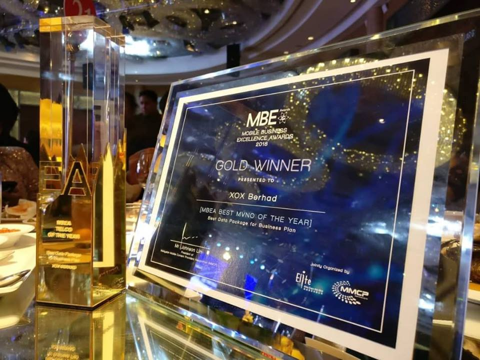 MBEA Mobile Business Excellence Awards 2018 - Gold Winner
