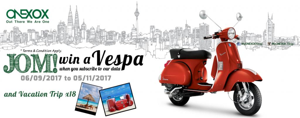 Hadiah Utama sebuah Motosikal Vespa untuk Tahun 2017