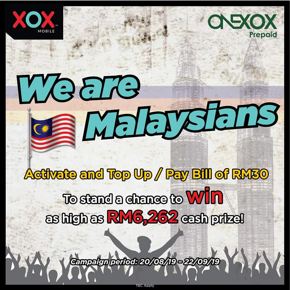 we are malaysians campaign poster win up to rm6,262